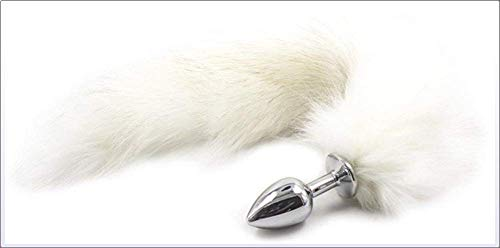 (Erotik Analplug Edelstahl Mit Fuchsschwanz (Ø41mm, Fetisch Fox Tail Butt Plug Sexy Cosplay Anal Dildo Bdsms Sex Spielzeug Für Männer Frauen Paare)