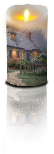 Kinkade Cottage Candle 7in B/O (Thomas Kinkade)|Thomas Kinkade