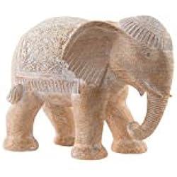 Figura Elefante en Resina Estilo Oriental para Decoración Hogarymás