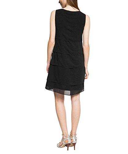 Esprit 075EO1E006 - Robe - Boule - Imprimé animal - Sans manche - Femme Noir (Black)