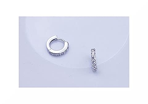 Zircon Silver Plated Stud Earrings (Single)