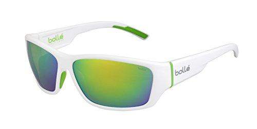 bollé Erwachsene Ibex Sonnenbrille, Matt White Green, Large