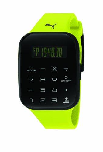 Puma Time PU910531003 - Reloj digital de cuarzo para hombre con correa de plástico, color amarillo