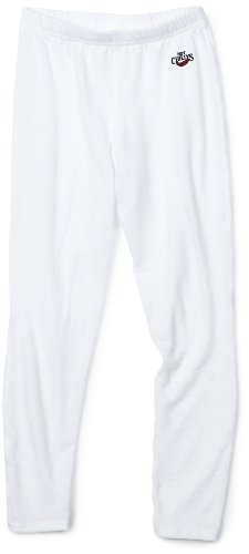 Base Layer Thermo Boden (Hot Chillys Kinder Midweight Funktionshose, Weiß, L)