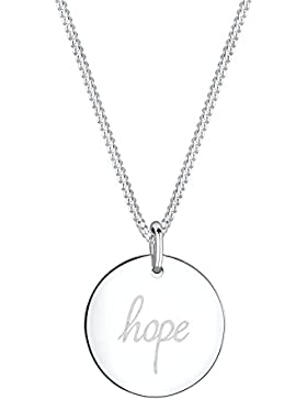Elli Halskette Hope Schriftzug Wording 925 Sterling Silber rosé vergoldet 45cm
