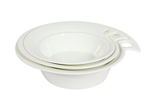 Novastyl 8011201.0 Artiste Saladier Porcelaine Blanc 19,0 x 18,0 x 5,0 cm