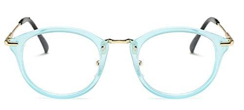 n Frauen Brillengestell Männer Brillengestell Vintage Runde Klare Linse Myopie Brille Optische Brillengestell 1 ()