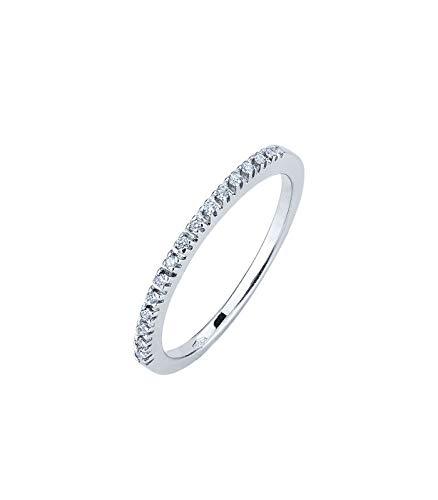 Gioielli di valenza anello fedina in oro bianco 18k con diamanti - 15