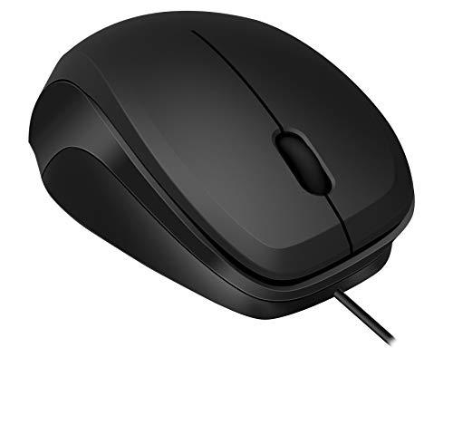 Speedlink LEDGY Silent Mouse - Ergonomische Leise 3 Tasten Maus mit USB Anschluss für Büro/Home Office (Geräuschlose Tasten - Optischer Sensor mit 900 dpi) für Gaming/PC/Notebook/Laptop, schwarz