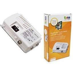 TM Electron tmamp001-Amplificateur d'antenne TV pour intérieur UHF/VHF avec 2Sorties, Blanc