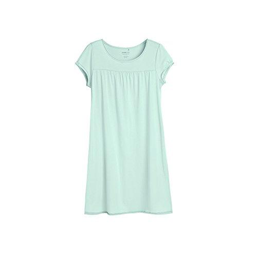 Coton col rond manches courtes chemise/ service à domicile de l'habitat/ Mme pyjamas confortables C