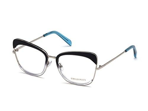 Emilio pucci montature occhiali da vista donna in metallo ep5090 (nero/argento)