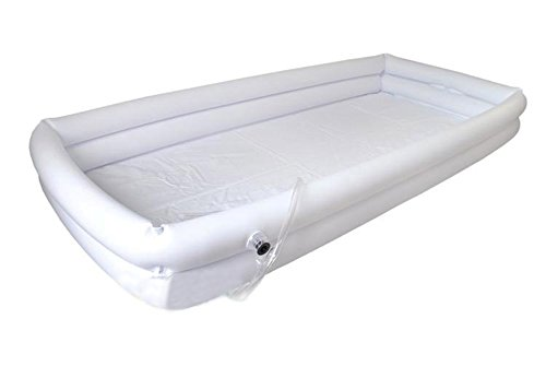 Medizinische Aufblasbare Badewanne, Aufblasbarer Faltbarer Duschpool Für Gelähmte Patienten (Weiß)