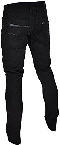 Pantalon toile aspect jeans noir1151