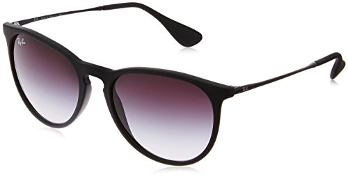 Ray-Ban rb4171 Women's Erika Round Sunglasses,Non-Polarized,Black Frame/Gray Gradient Lens,54 mm