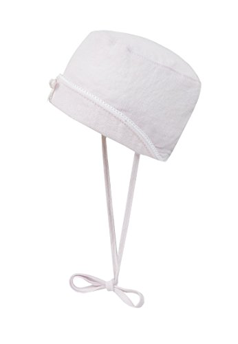 D&L Bindehut Leinen - Bonnet - Fille Rose - blushing bride 2440