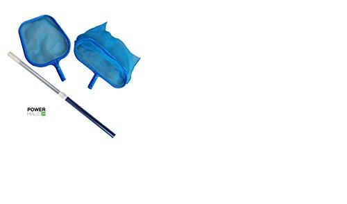 powerhaus24-ensemble-depuisette-epuisette-de-sol-et-de-feuilles-avec-perche-telescopique-en-aluminiu