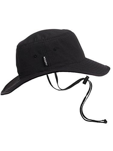 Stöhr Erwachsene Visor Hat Hut, schwarz, L/XL