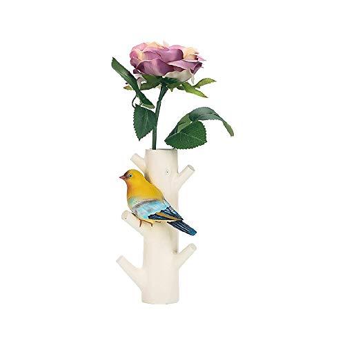 Leeq 1pc elegante resina tronco ganci a muro uccello hanger craft holder for cafe home decor white pleasure(white pleasure)