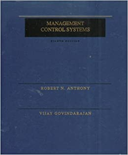 The Management of Control Systems (The Irwin Series in Graduate Accounting)