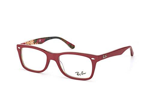 Ray Ban Kunststoff Brille RX 5228 5406 Größe 53 in der Farbe rot matt