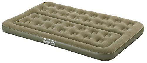Coleman Luftbett Comfort Bed Compact Double, Indoor/Outdoor Luftmatratze 2 Personen, Velours Gästebett, Komfort Doppelbett, Campingbett für Wandern, Trekking, Festivals, 189 x 120 x 17, max. 295 kg