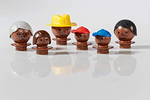 Plasticant Mobilo 129 - Juego de Figuras (6 Unidades), Color marrón Oscuro