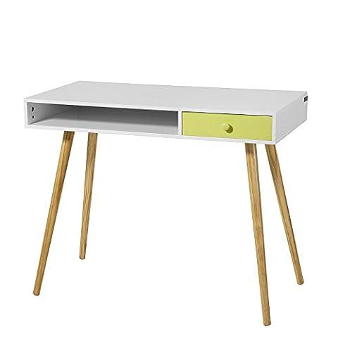 SoBuy® Bureau Console ordinateur Table d'appoint Secrétaire Informatique - 1 tiroir - FWT24-W
