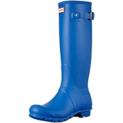 Hunter Original Tall, Botas de Estar por casa para Mujer, Azul (Bright Cobalt), 37 EU