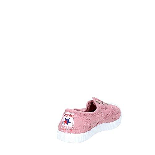 Cienta 70998 Blanc chaussures fille 21/27 tissu élastique Rose