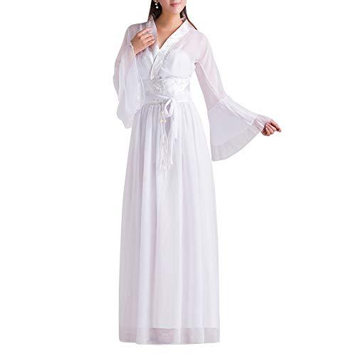 uirend Damen Chinesischen Stil Kostüm - Antike Retro Hanfu Robe Traditionell Tang Fee Mädchen Tanz Chiffon Anzug Kleid Cosplay Vorstellungen Kostüm