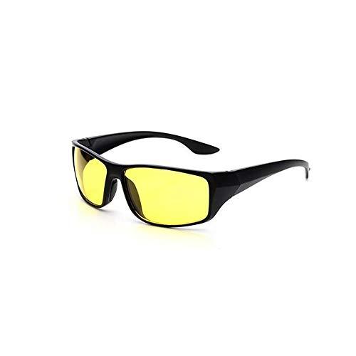 BALYP Fahrradbrille Gelbe Nachtsichtgläser, die nachts Gläser Fahren Angeln im Freien Sportbrillen Sonnenbrillen Männer und Frauen Für das Radfahren im Freien (Farbe : Schwarz, Größe : Free Size)