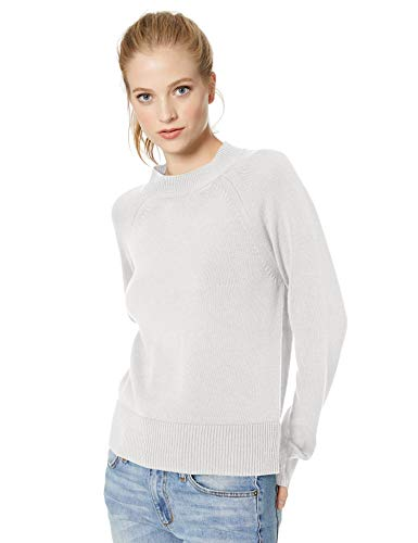 Daily Ritual 100% Cotton Mock-Neck Sweater Pullover, Weiß White), US XL (EU 2XL) - Mock Neck Sweater