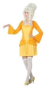 Atosa- Disfraz cortesana de época, Color Amarillo, M-L (5032)