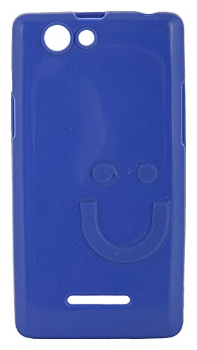 iCandy™ Imported Quality Soft TPU Smiley Back Cover For Xolo A500S - Blue  available at amazon for Rs.165
