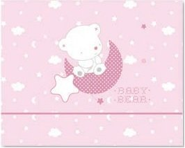 Pirulos Sabanas Invierno Microlina Maxicuna 70x140 Baby Bear Rosa