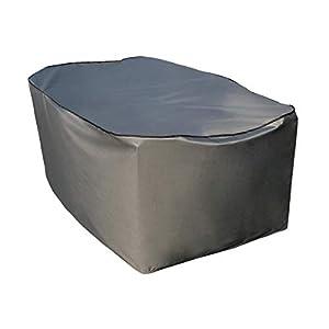 SORARA Schutzhülle/Cover für rechteckigen Tisch Set | Grau | 180 x 90 x 70 cm (L x B x H) | Wasserabweisend Polyester & PU Coating (UV 50+)| Wettershutz | Regenfest | für Outdoor Garten Möbel