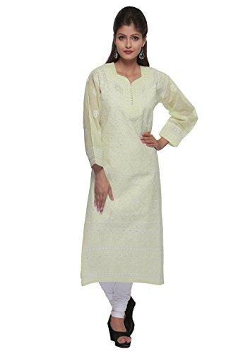 ADA Needlecraft Lucknowi Chikankari Women's Cotton Kurta Kurti Casual Wear A163488