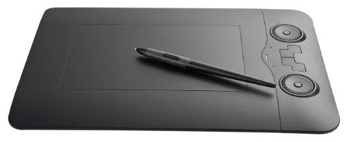 Perixx PERITAB-503Bravod, Grafiktablett mit batteriefreiem Stift - 2 Navigationsräder zum Zoomen & 3D Flip Control - 5080 LPI - Kompatibel mit Windows & Mac OS X