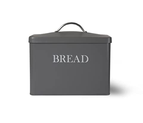 Garden Trading 1-Piece Garden Trading Bread Box in Charcoal