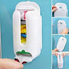 4square Wall Mount Grocery Bag Dispenser Plastic Recycle Bag Storage Organizer Container Holder 1 pc