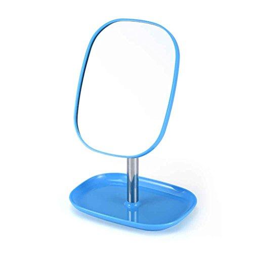 Vanity Mirror Portable Portable Große Einfache Prinzessin Spiegel Schlafzimmer Schreibtisch Schlafsaal Eitelkeit Spiegel 360 ° Free Angle View HD Spiegel Anti-Rutsch-Basis (Farbe : Sky Blue)