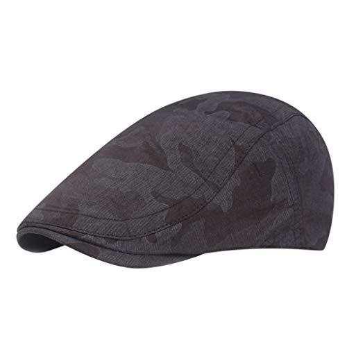 Männer Damen Camouflage Flat Cap Zeitungsjunge Baker Berets Entenschnabel Golf Cabbie Hut - Klassisches Golf Cap