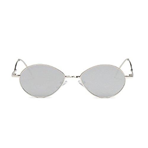 Fuyingda Fashion Sonnenbrille Vintage oval Ocean Lens Weiblich Männlich Vintage Sonnenbrille Metallrahmen
