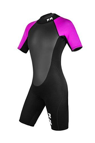 PI-PE Damen Neoprenanzug Active Spring Short Sleeve, Pink, L