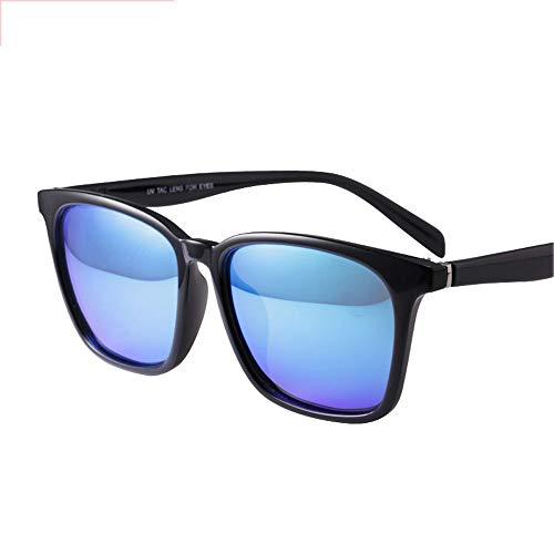 ZCF Sonnenbrille weibliche Flut Avantgarde polarisierte Sonnenschutzbrille rundes Gesicht Persönlichkeit Retro-Sonnenbrille (Farbe : Blau)