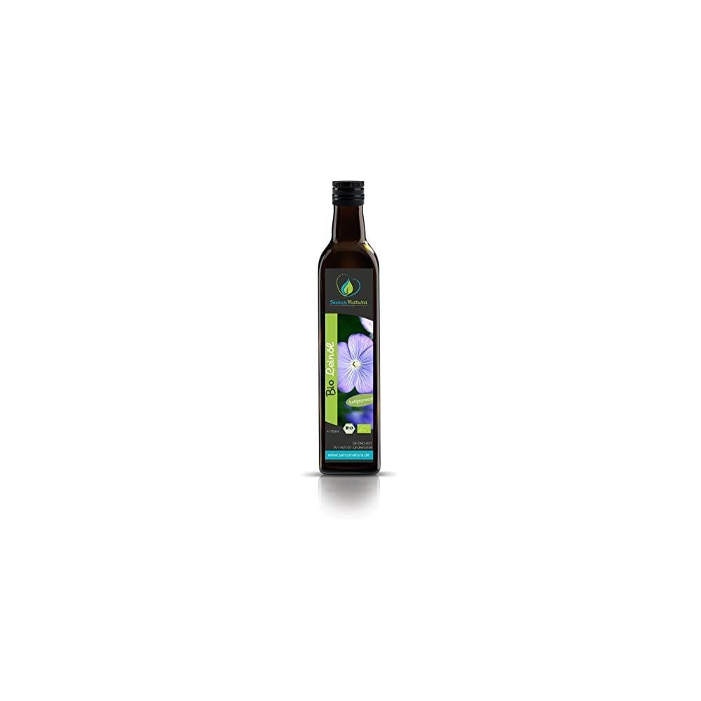 Sanus Natura Bio Leinl 500ml Glasflasche