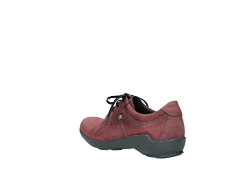 Wolky 1570 Sena, Sneaker Donna Blank 151 Nubuck Huilé Bourgogne