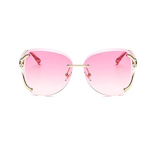 Li Kun Peng Sonnenbrille Mit Fox-Gestell Nicht Leicht Zu Verformen Leichte Anti-UV-Retro-Sonnenbrille,E