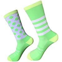 Sport Outdoor Radfahren Socken Links und Rechts Füße Welle Punkt Gestreiften Bikes Socken Lauf Basketball Socken... preisvergleich bei billige-tabletten.eu